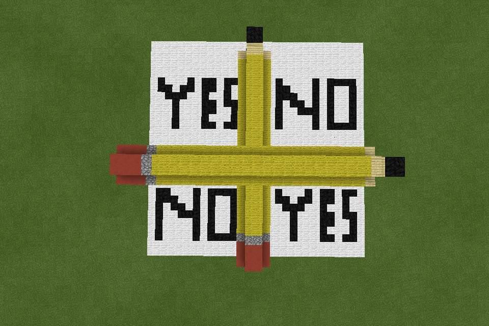 Charlie Charlie Pencil Game Build | Minecraft Amino