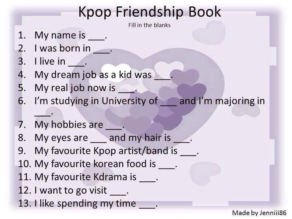kpop friendship book k pop amino