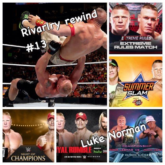 rivalry rewind 13 brock lesnar vs john cena wrestling amino