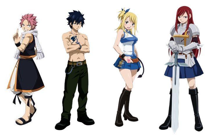 картинки персонажей из хвоста феи с именами учетом