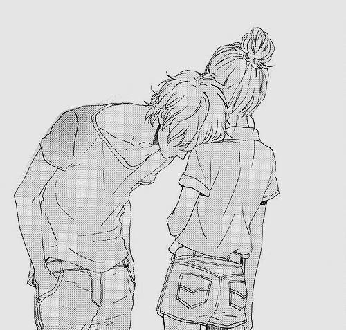 short girl tall guy anime