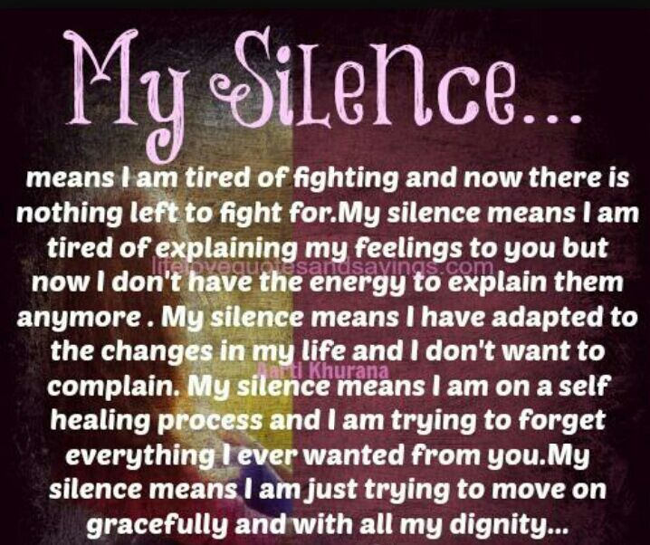 My Silence Quote Anime Amino