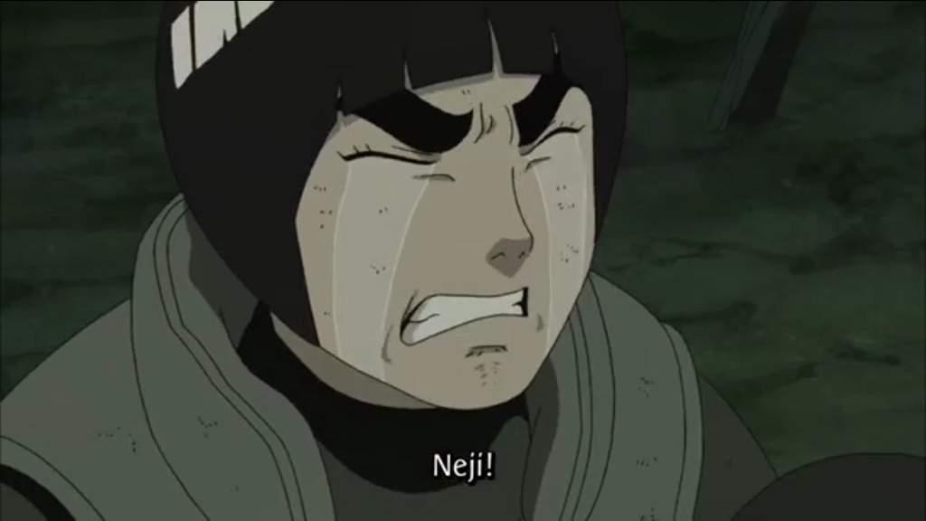 Hinata crying over neji