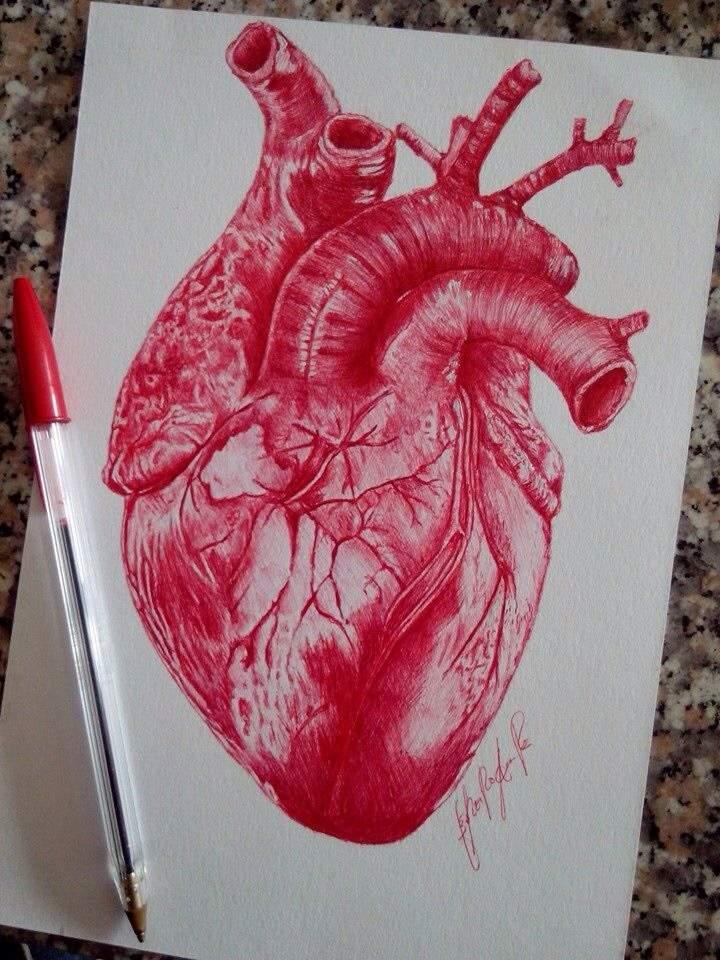Heart In Ballpoint Pen Art Amino