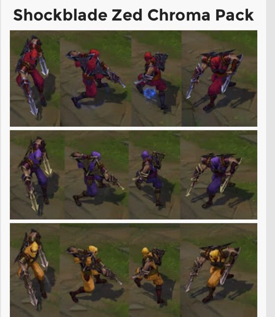 New Zed Chroma Packs League Of Legends Official Amino