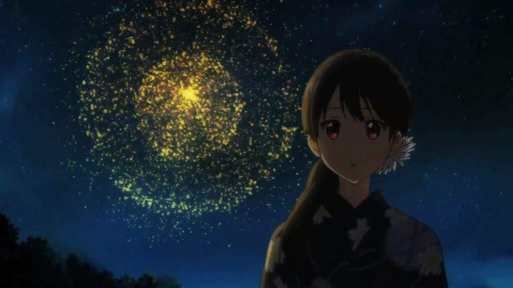 I Love The Scene In Kyoukai No Kanata With Fireworks