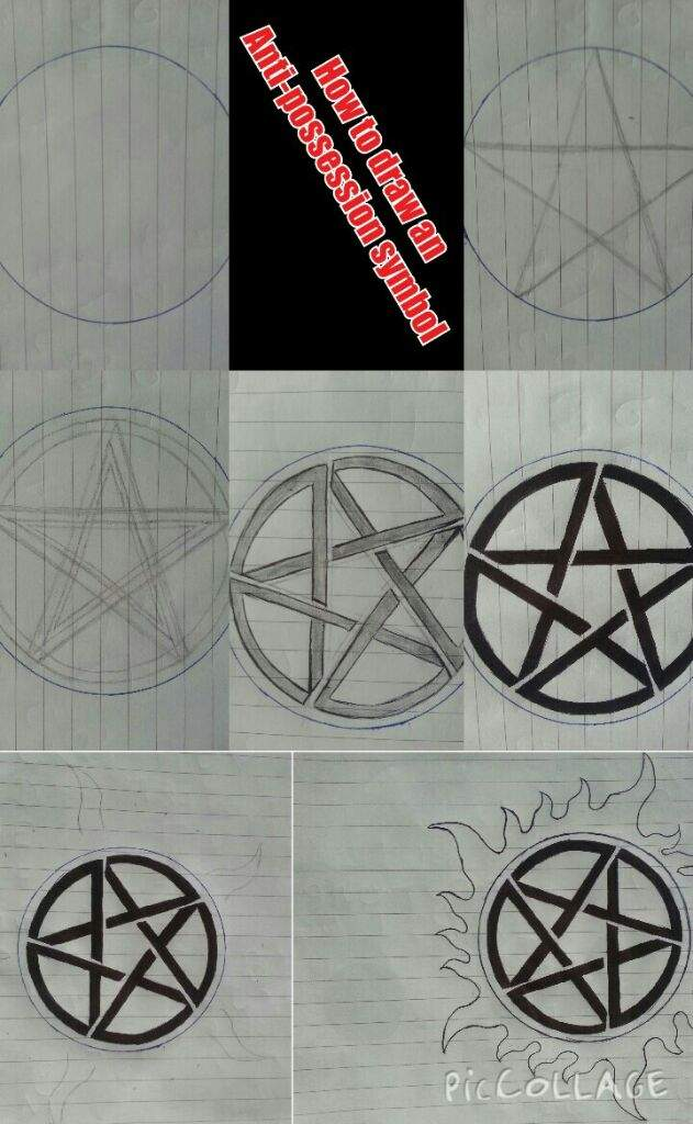 How To Draw The Anti Possession Tattoosymbol Supernatural Amino