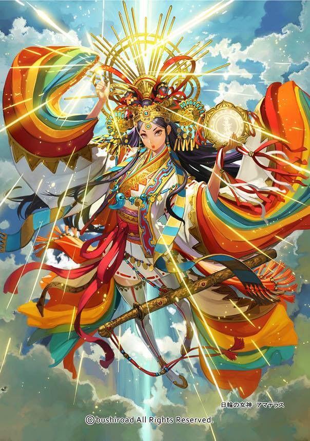 amaterasu Ōmikami japanese mythology anime amino