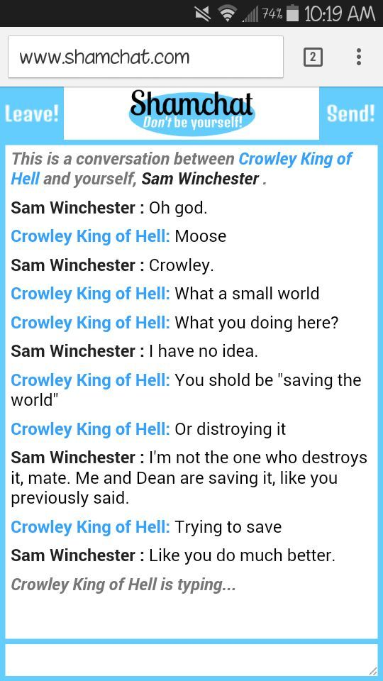 shamchat supernatural amino