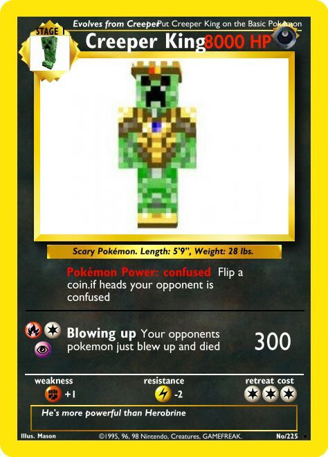 my minecraft pokemon card i made minecraft amino
