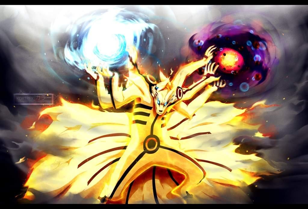 Sasuke Tailed Beast Susanoo Vs Naruto 3 Head Kurama ...