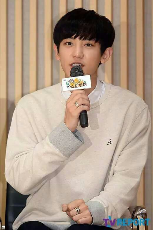 Chanyeol at Law of the Jungle Press Conference | K-Pop Amino