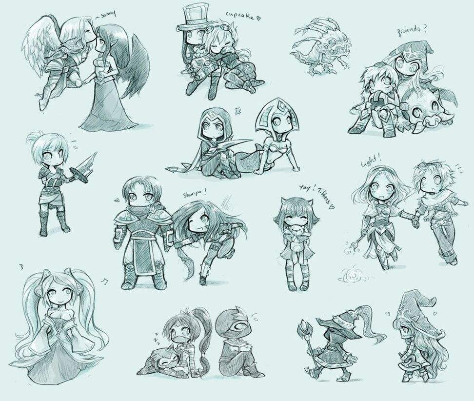 Chibi Champion Sketch League Of Legends Official Amino