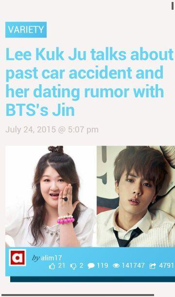 Lee Guk Joo Dating Bts Jin