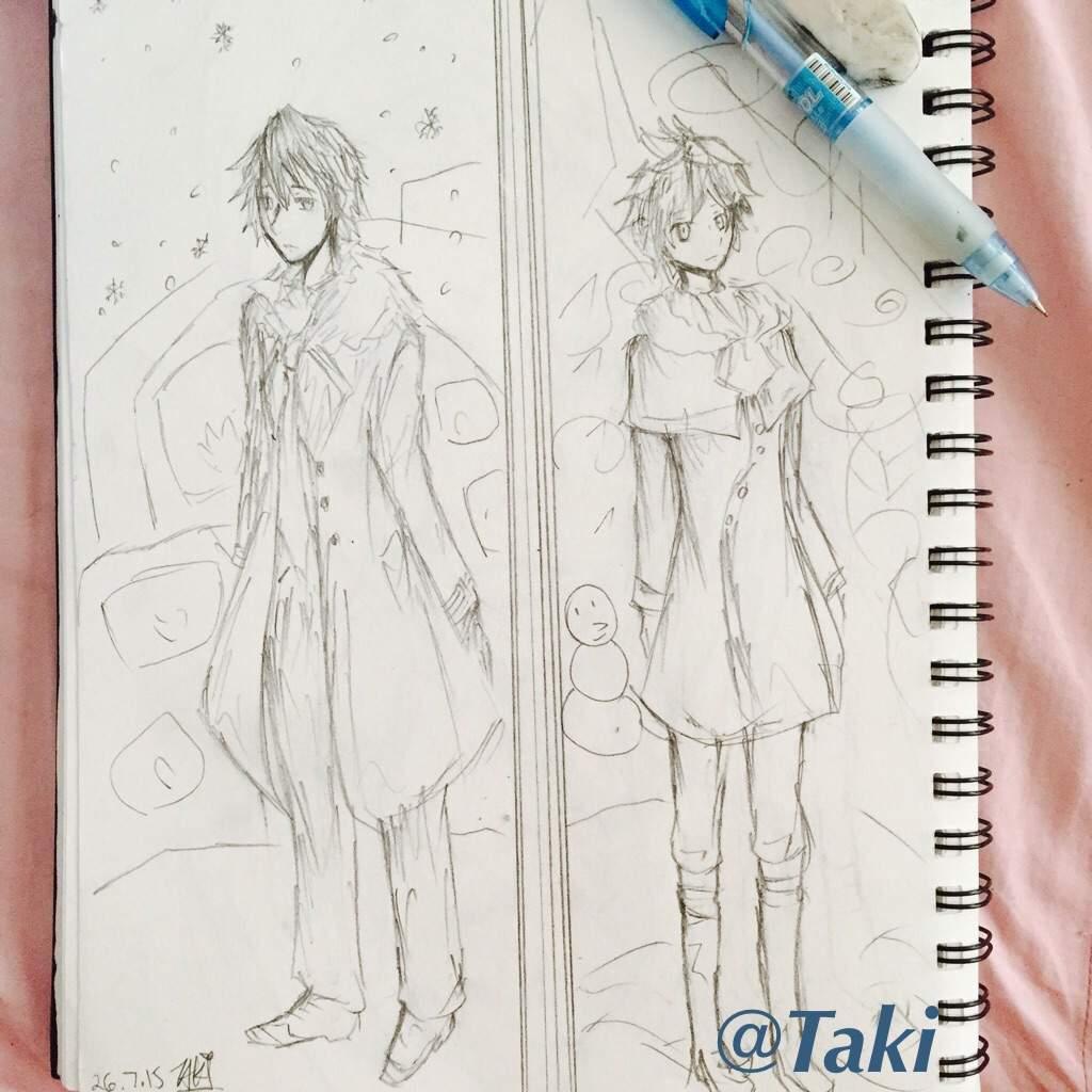 "kaito & len ""snowman"" fanart | anime amino"
