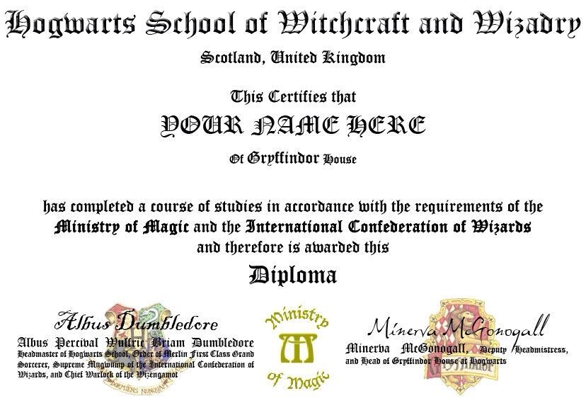 Hogwarts id and diploma templates harry potter amino gryffindor yadclub Image collections