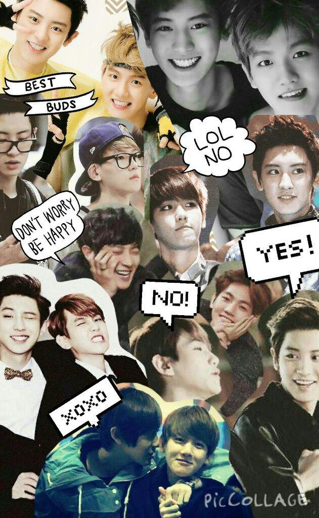 exo wallpaper collage kaisoo chanbaek baekyeol