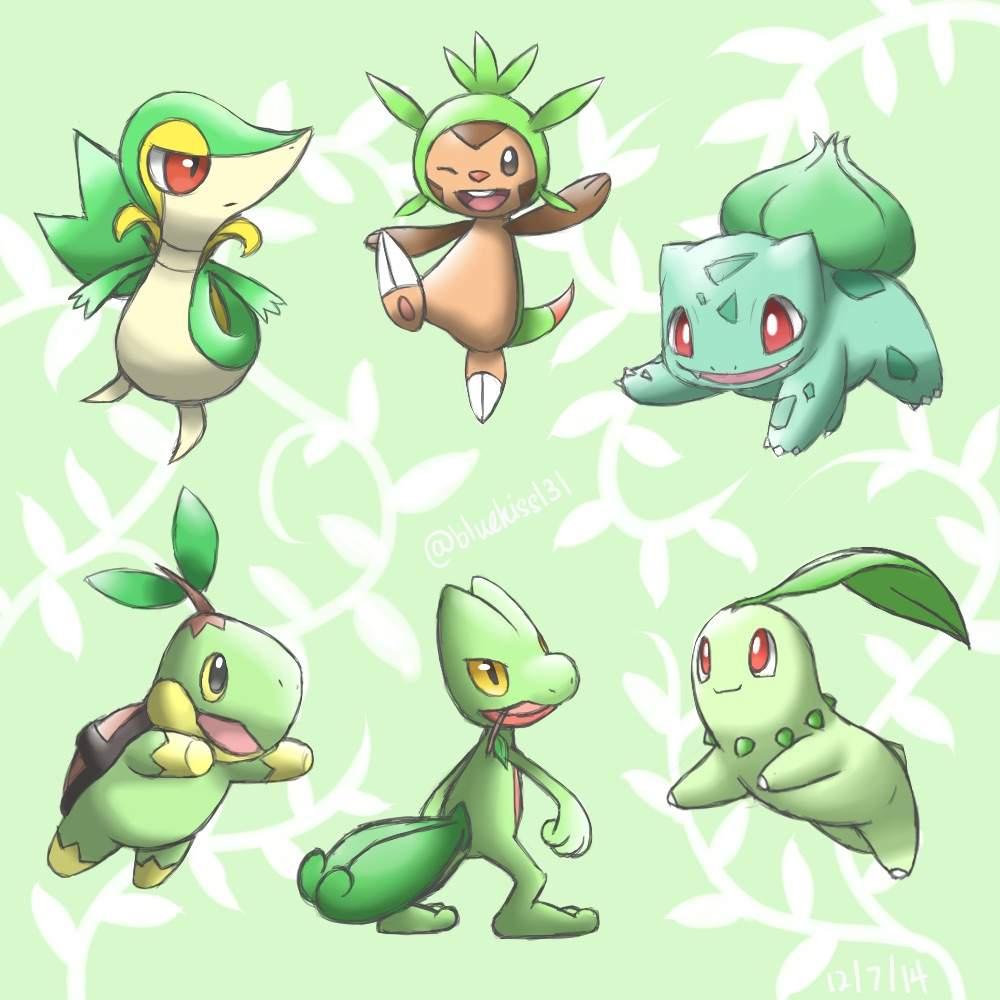 Best Grass Type Starter Pokémon Amino