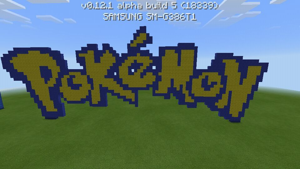 20 day pixel art challenge day 6 minecraft amino - Pokemon logo minecraft ...