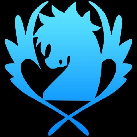 New Fairy Tail Blue Pegasus Guild logo Handmade Etched ...  Fairy Tail Guild Logo Blue