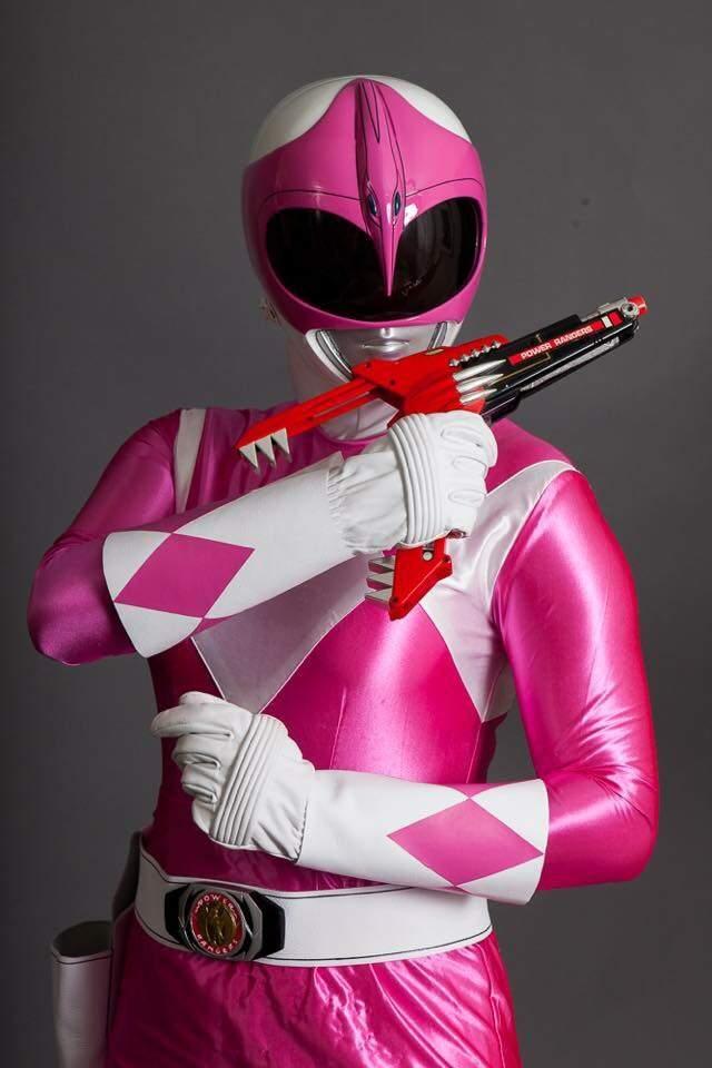 cosplay ranger Mmpr pink