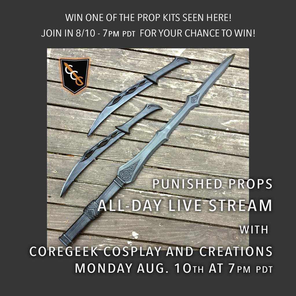 Live Stream Prop Giveaway On 8/10 | Cosplay Amino