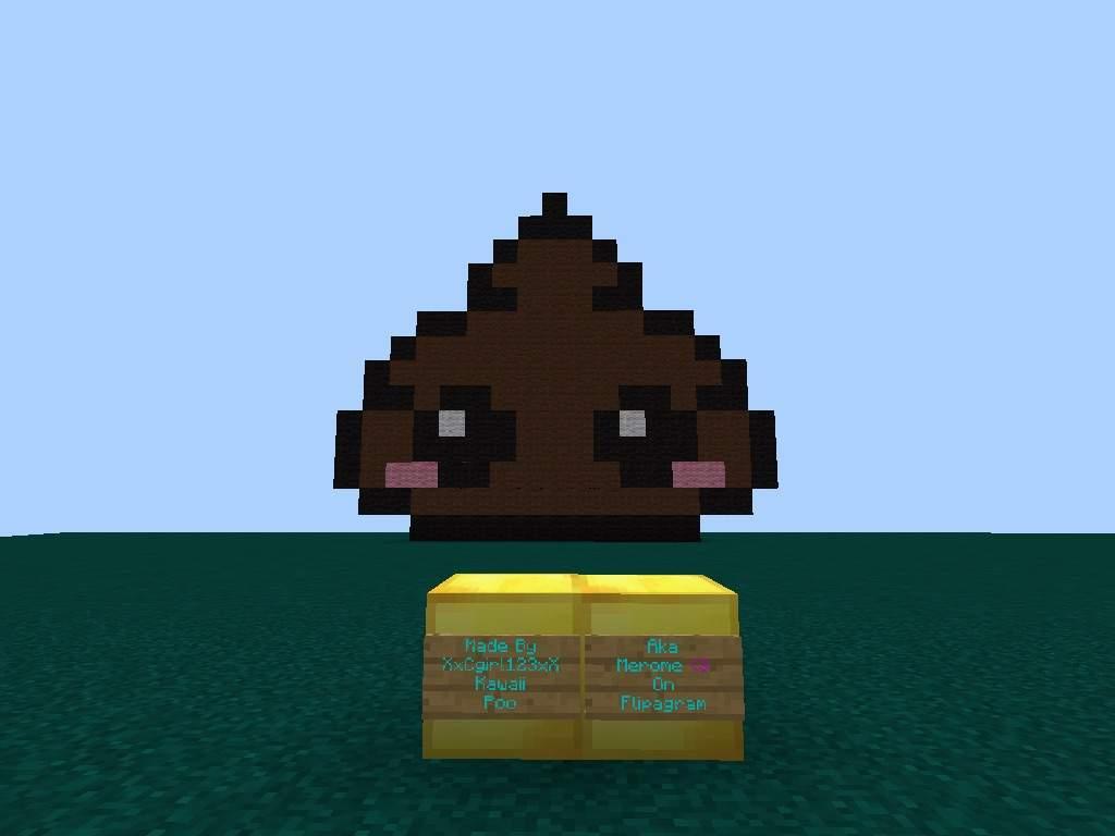 Funny And Cute Kawaii Poo Pixel Art Minecraft Amino