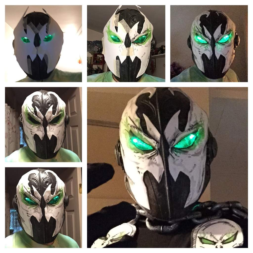 Spawn Mask Led Lights For The Eyes I Have A Little More To Tweak Still But Im At Good Place Until Rest Of Costume Is Close Being