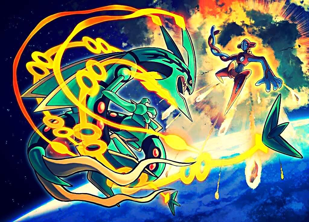 rayquaza vs deoxys art contest pokémon amino