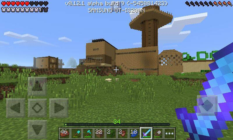 Minecraft pocket edition survival house minecraft for Modern house minecraft pe 0 12 1