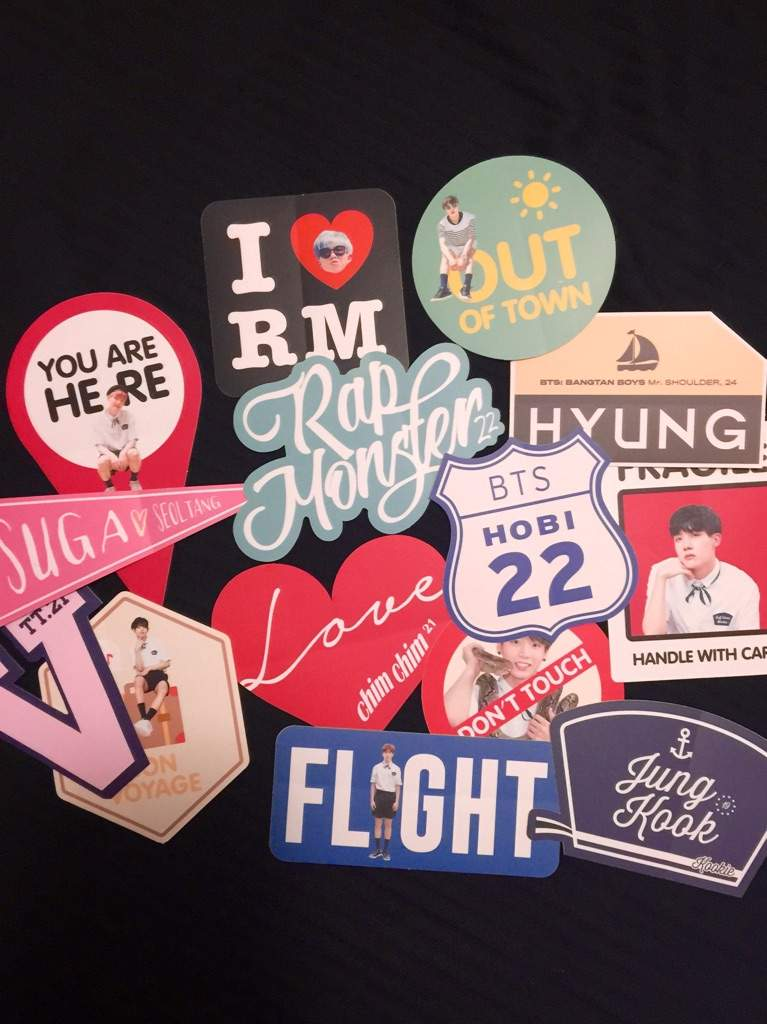 14 travel case stickers matte finish durable 2 sticker designs for each member