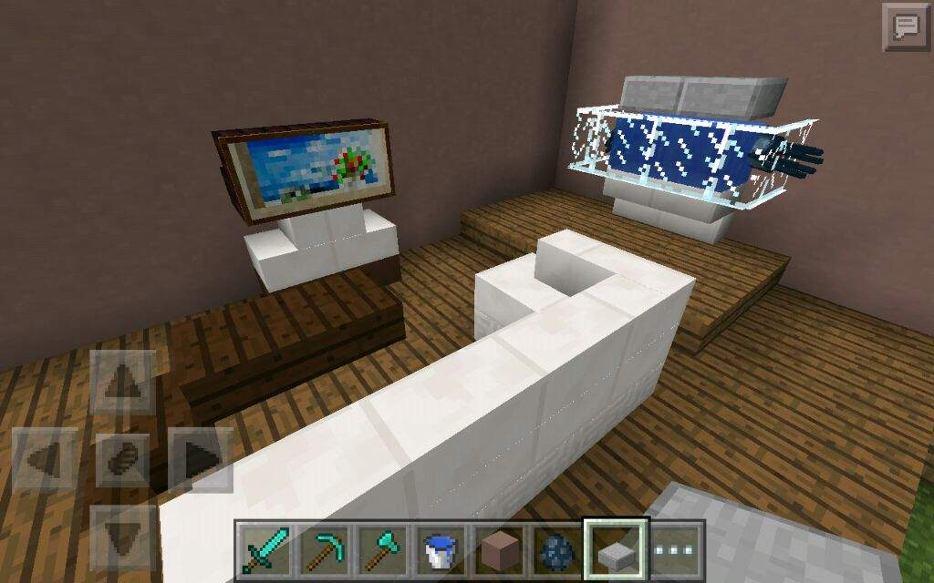 Bedroom and living room minecraft amino for A living room in minecraft