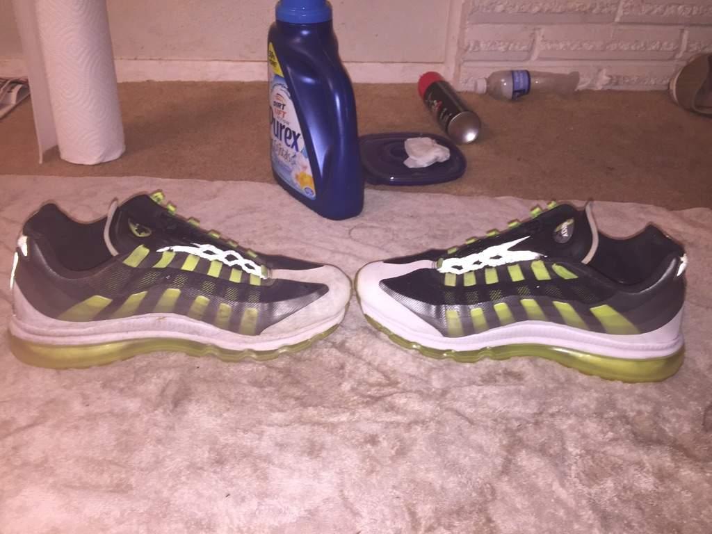 Cleaning air max 95+ BB   Sneakerheads