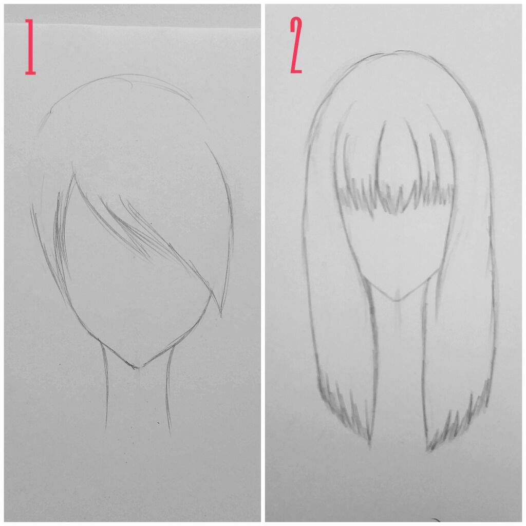 how to draw anime hair bangs