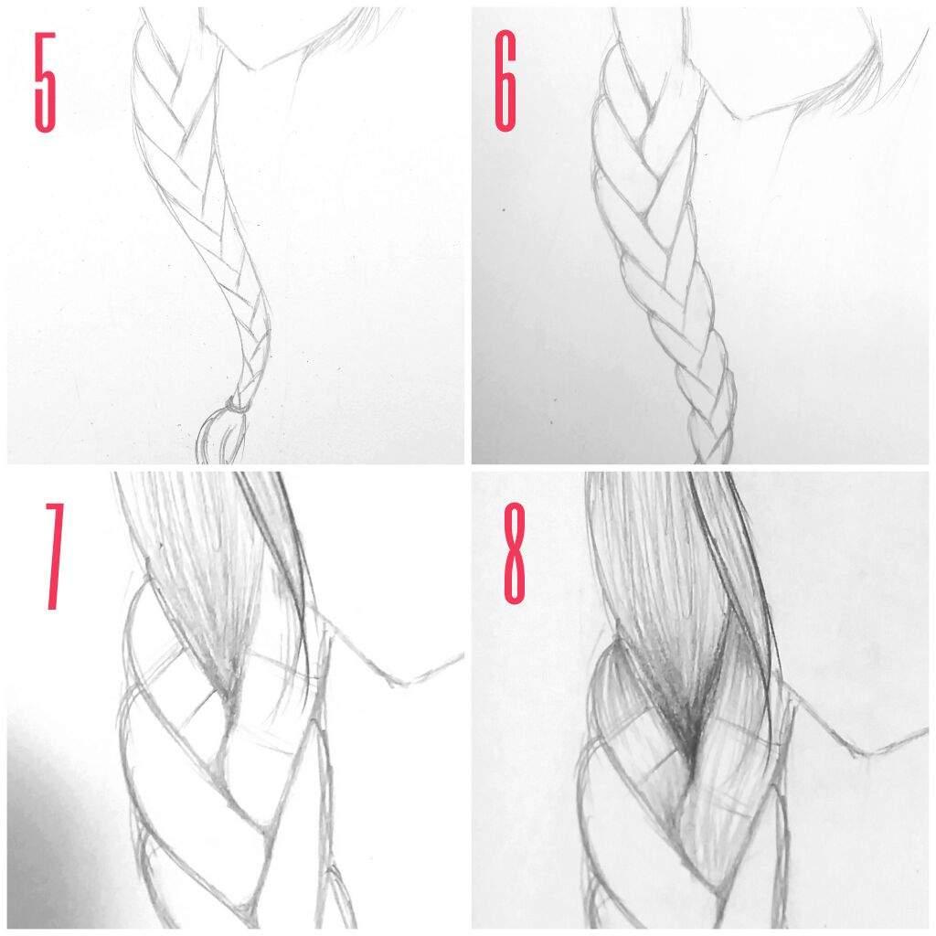 how to draw a braid i draw fashion - HD1024×1024