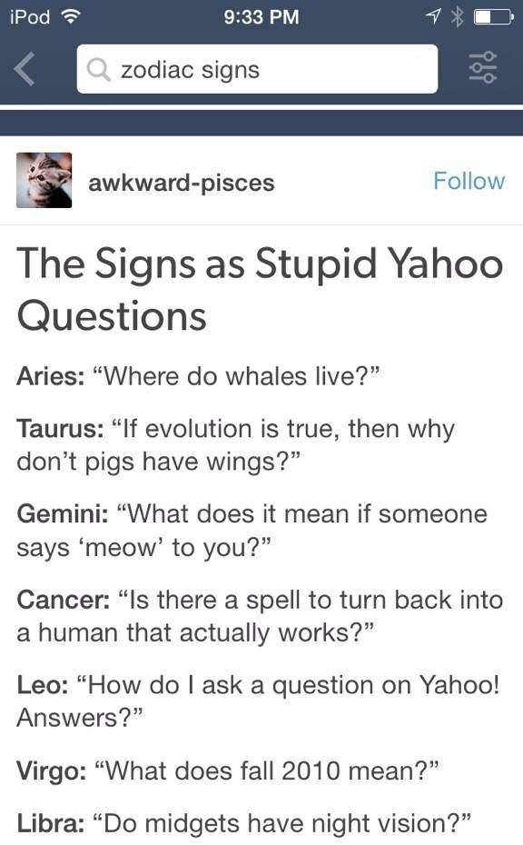 🌙The Zodiac Signs As (Part II)🌙~ | OMG Amino