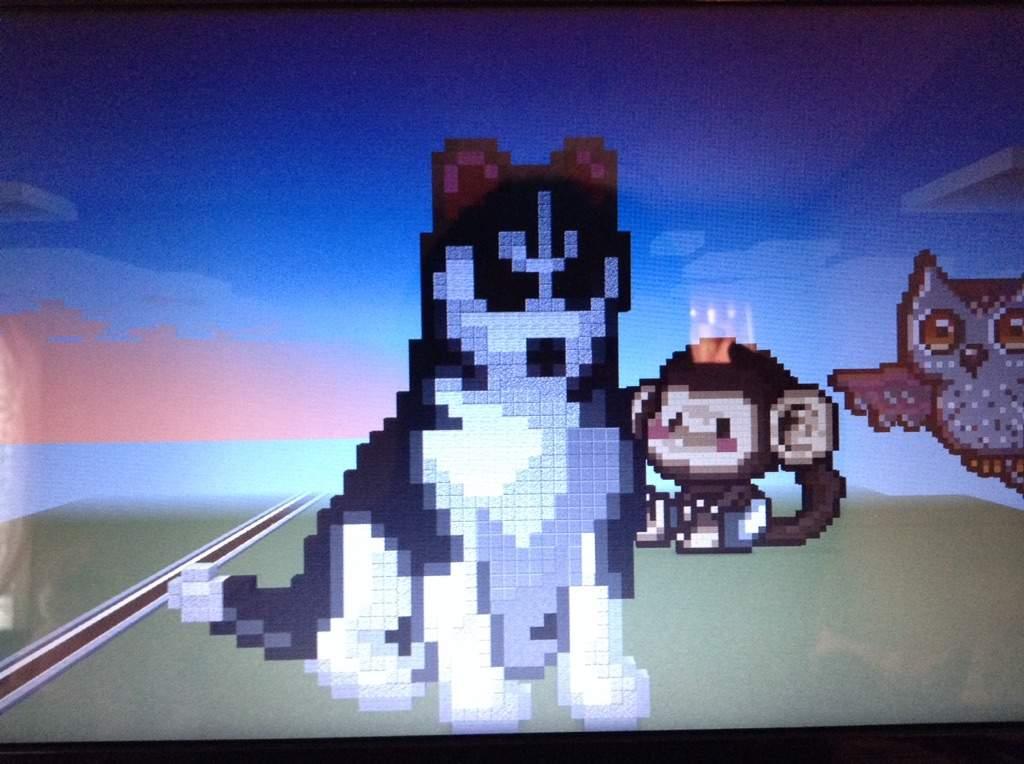 Dog In Minecraft Build