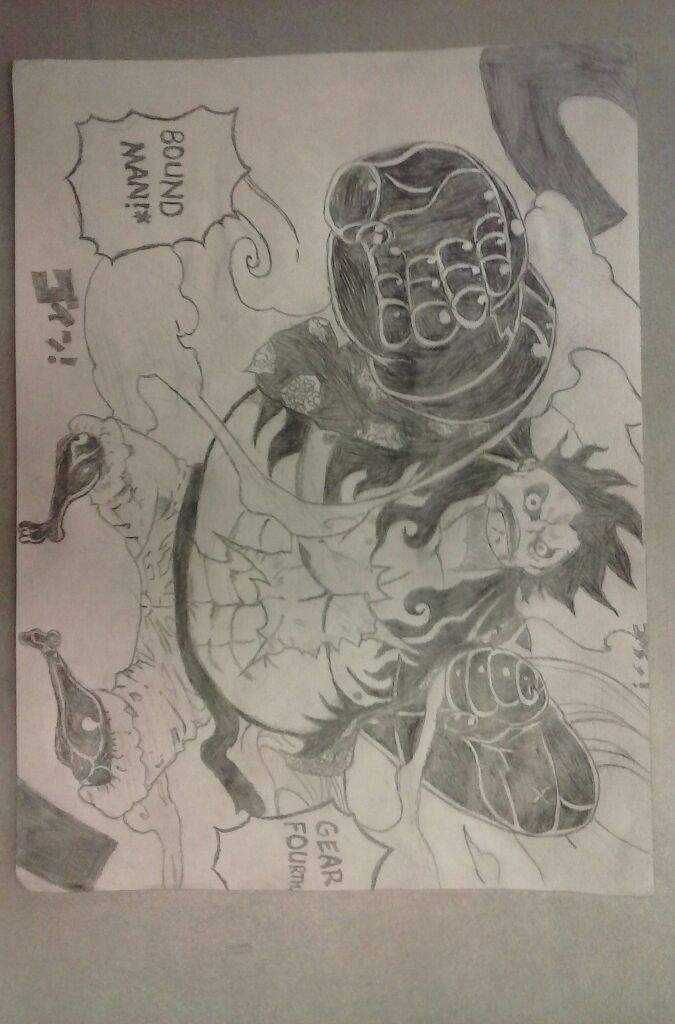 One Piece Drawing Monkey D Luffy Gear 4 Bound Man Anime Amino