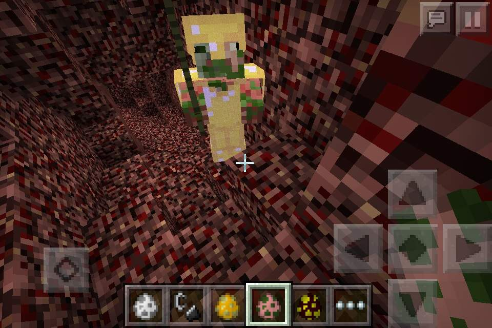 Minecraft PE Zombie Pigman With Enchanted Gold Armor