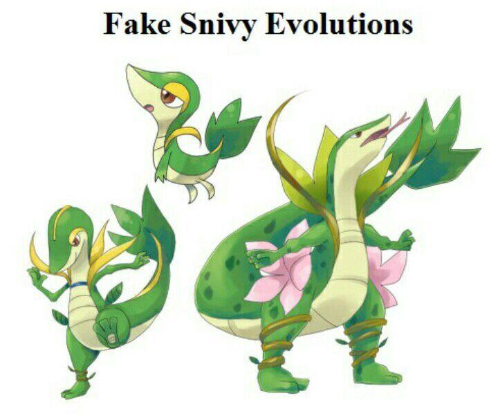 fake snivy evolutions pok233mon amino