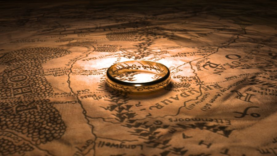 Ash nazg durbatulk One Ring to rule them all on the Black
