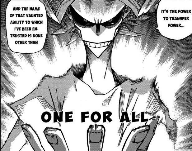 Theory Of One For All Boku No Hero Academa Anime Amino