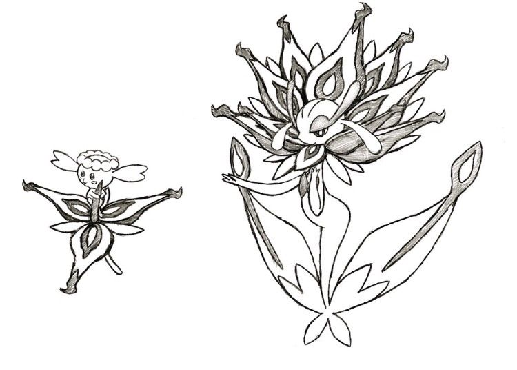 pokemon coloring pages flabebe flower - photo#29