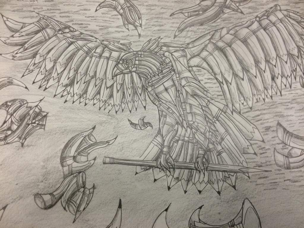 Eagle made out of pencils drawing anime amino
