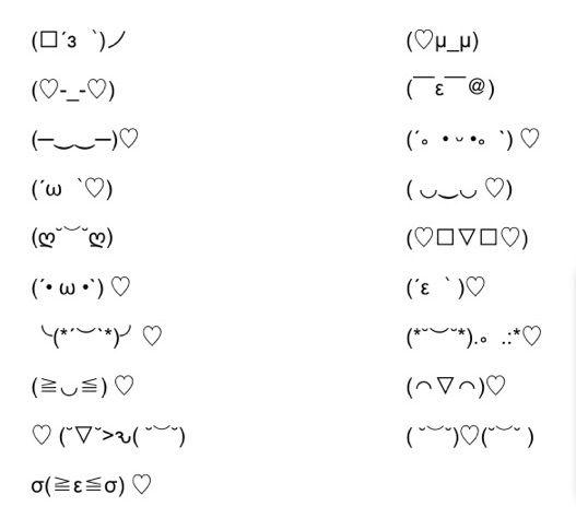 Punctuation faces