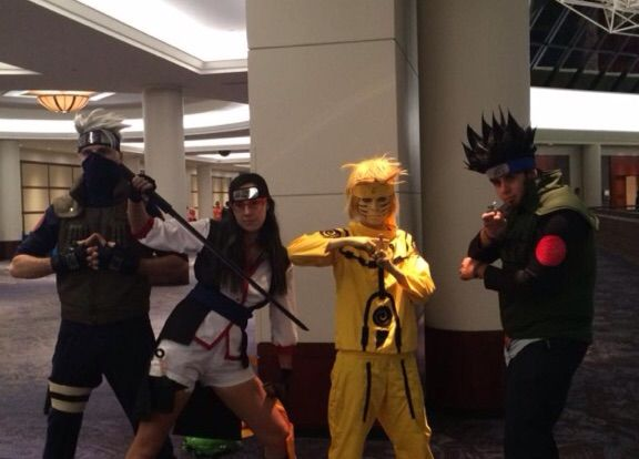 Our Cosplays Were Kakashi Asuma Sarada And Naruto We Saw Some Excellent For The First Day