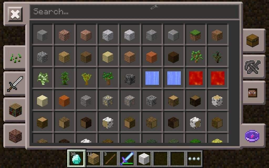 minecraft pe too many items mod 0.12.1