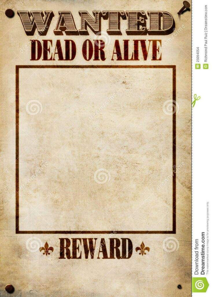 Blank Wanted Poster Paper Lets be friends...