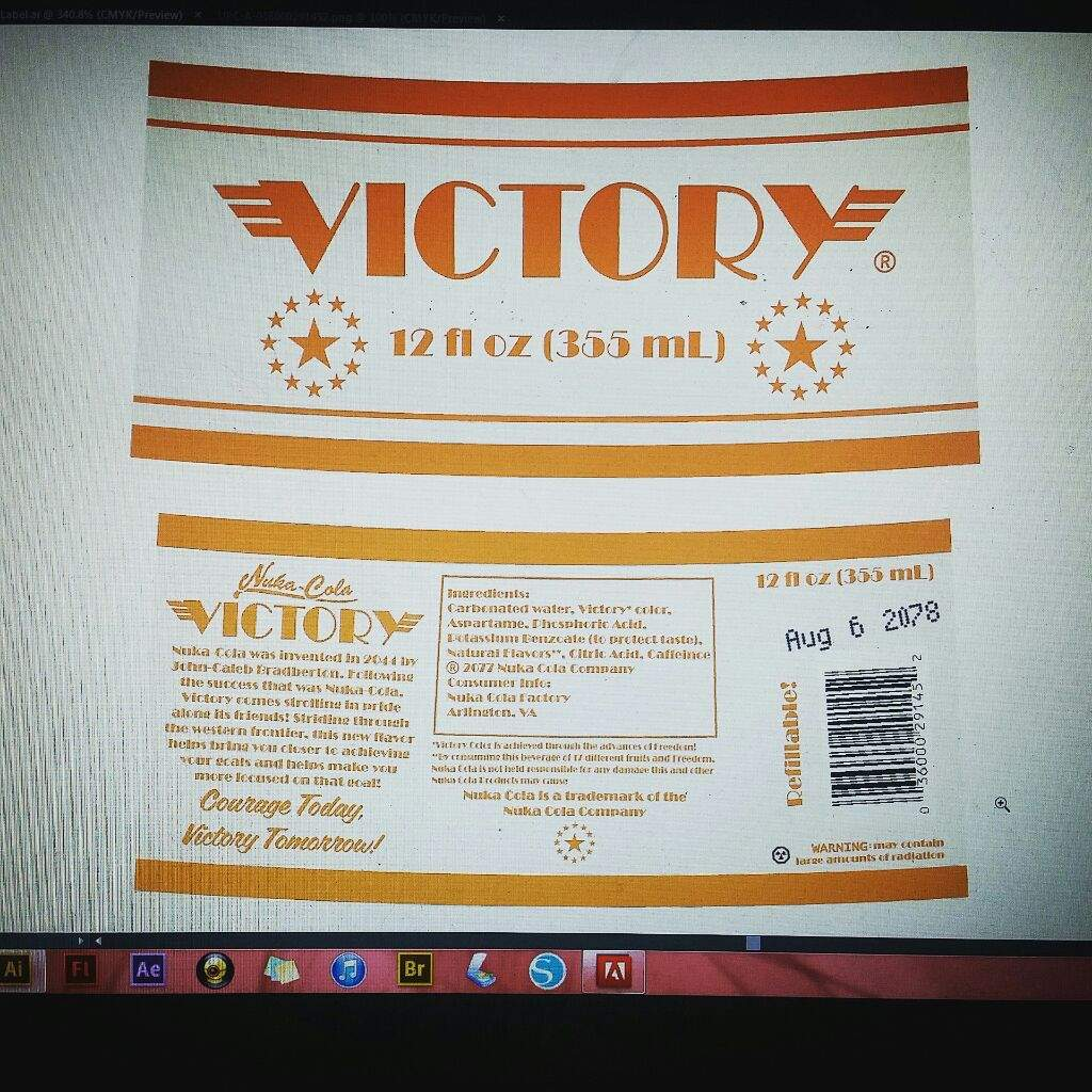 graphic regarding Nuka Cola Printable Labels named Nuka Cola Quartz and Victory Labels Performed! Cosplay Amino