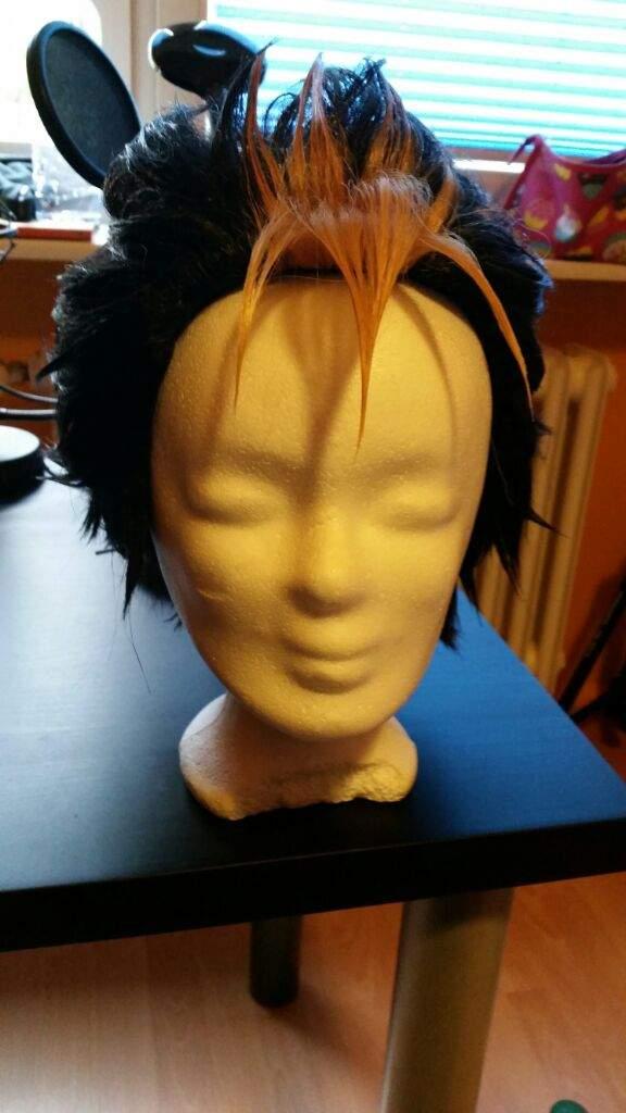 Haikyuu Nishinoya Yuu Wig Tutorial - How I style spiky ...